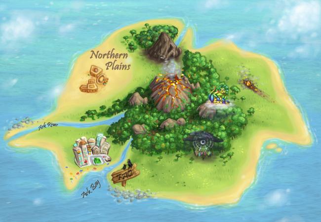 ark thieves island map
